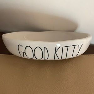 🆕 Rae Dunn Good Kitty Cat Feeding Dish Bowl NWOT